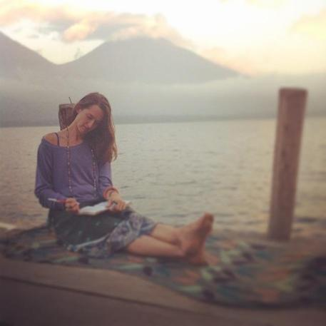 writing at lake atitlan