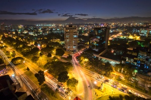 Guatemala City at night