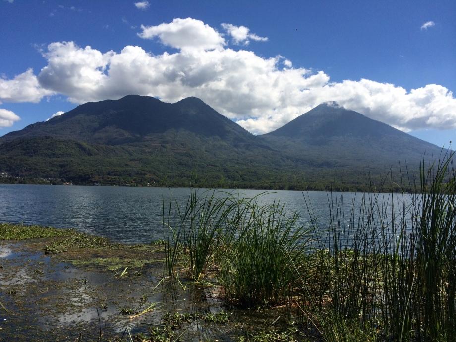 volcanoes across from farm
