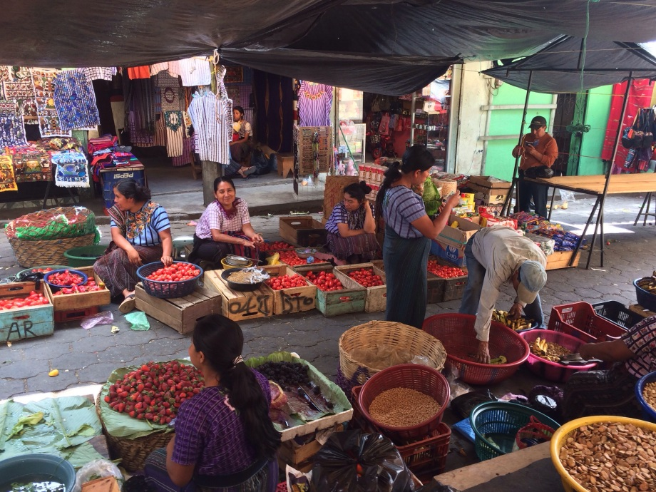 The outside of the market