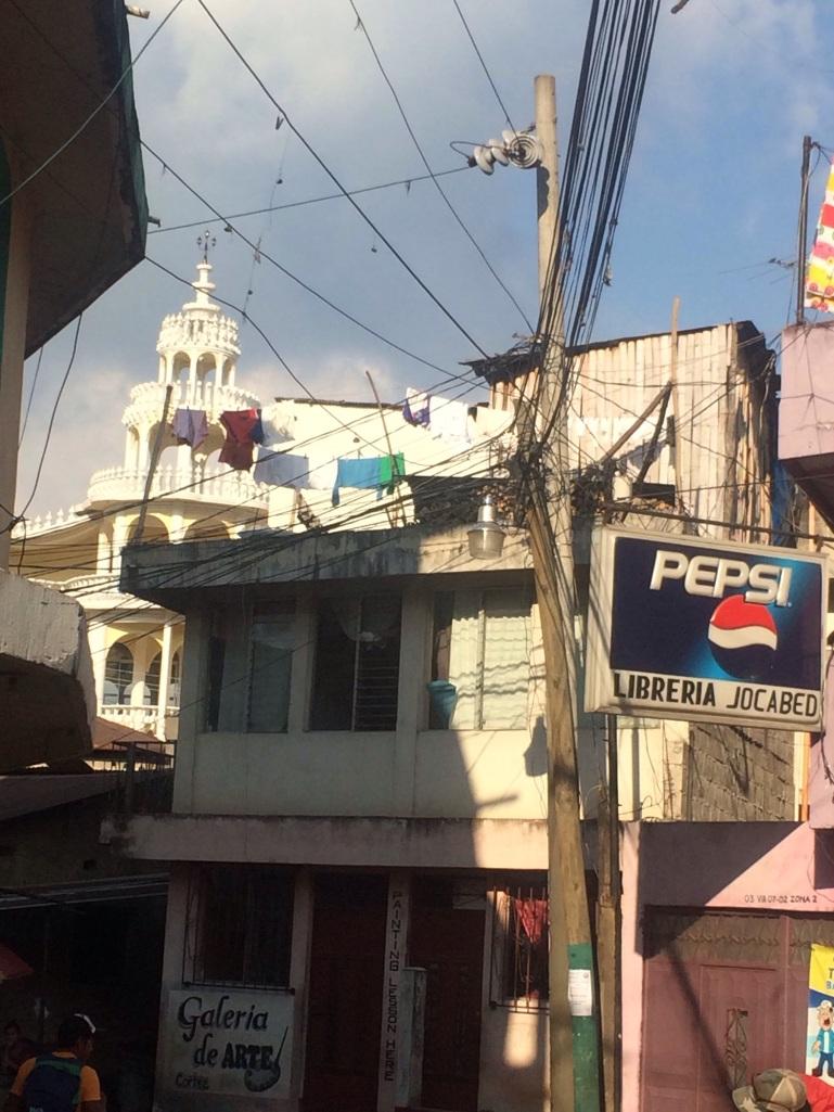 San Pedro church and pepsi