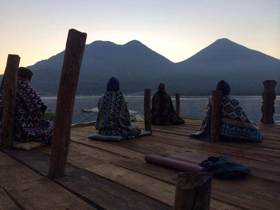 Morning meditation  on the dock