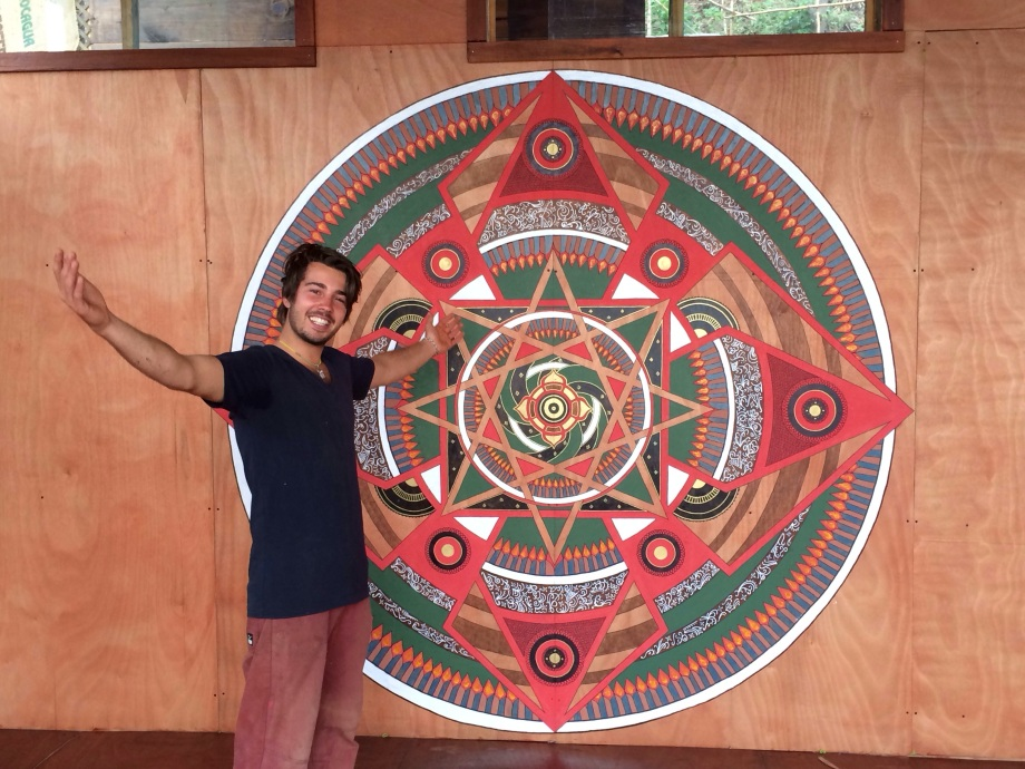 This amazing babe of a being created this mandala from start to finish while work trading at the ranch.