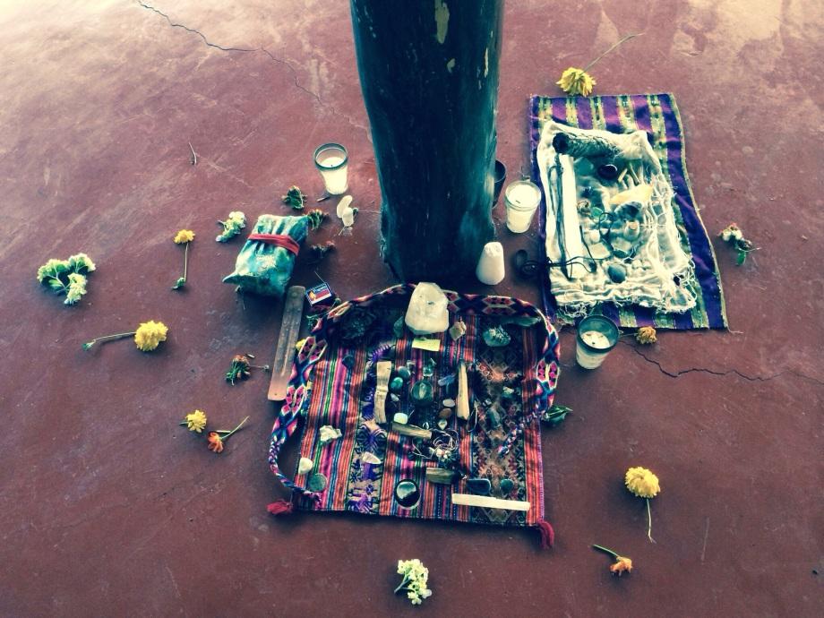 A shrine in the Yoga  Shala